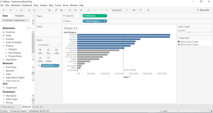 How to Create an Interactive Target Line in Tableau