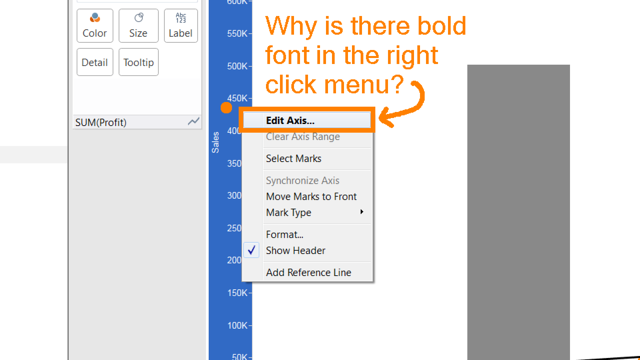 Tableau Tuesday: Understanding Bold Text Clues in the UI